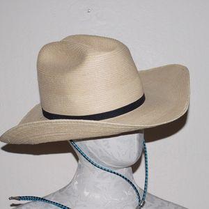 SunBody Hat Guatamalan Palm Leaf Cowboy 58 7 1/4
